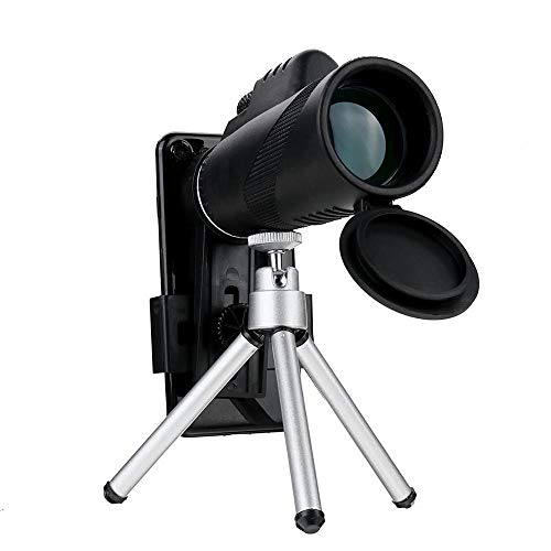 Monocular Telescope - 40 x 60 Zoom HD Lens - Mini Night Vision Monocular Telescope with Tripod, Phone Clip - Best for Outdoors and Camping