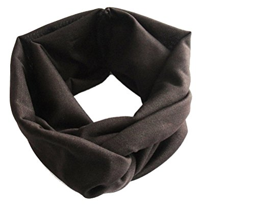 ILOVEDIY Damen Sport Stirnband Haarband verknotetes Kopfband Yoga Joggen Freizeit (Kaffee)
