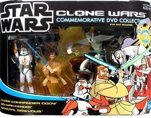 Animated Clone Wars Collector Set mit Anakin, Clone Trooper & Saesee Tiin - Star Wars Saga Collection 2005 von Hasbro