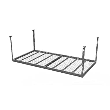 NewAge Products 40151 4-Feet by 8-Feet Ceiling Mount Garage Storage Rack, Grey