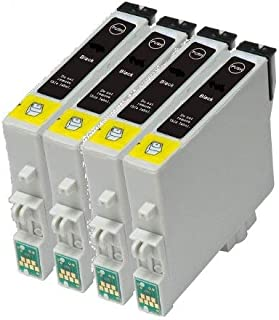 Set de 4 x T0711 negro compatible con impresoras para EPSON STYLUS ...