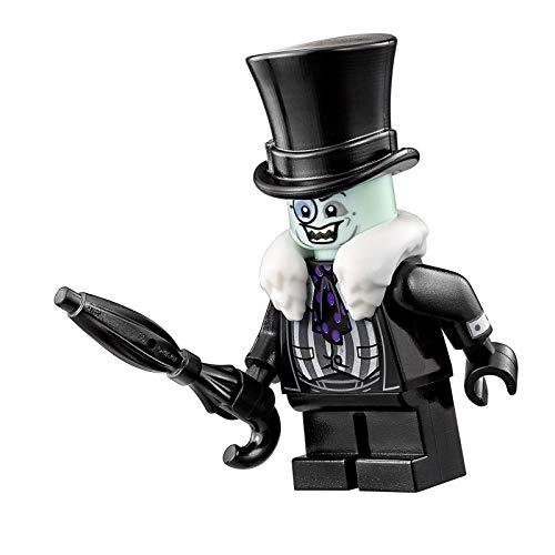The Penguin – Weißer Pelzkragen Regenschirm LEGO Minifigur Batman Film