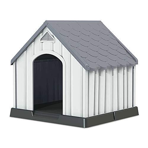 7H SEVEN HOUSE Caseta de Resina para Perros 92x87x91cm 7house | Caseta para Perros Grandes y Medianos | Caseta de Plástico...