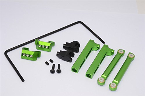 Parts & Accessories Aluminium Alloy Rear sway bar Mount + cage Mount + Wire - 9pcs Set yt312 for Axial yeti 90026 - (Color: Green)