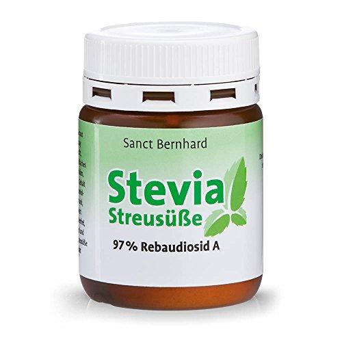 Sanct Bernhard Stevia Streusüße Pulver, Stevia-Extrakt 97% Rebaudiosid, Inhalt 30 g