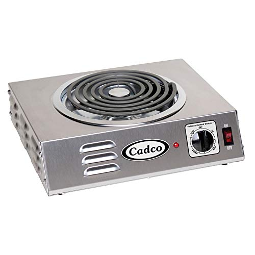 """Cadco CSR-3T Hot Plate, 14"""" x 12.25"""" x 4.125"""", Stainless Steel"""