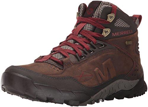 Merrell Men's Annex Trak Mid Waterproof Hiking Boot, Clay, 12 M US
