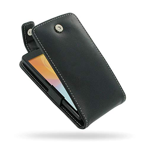 PDair Handarbeit Leder Hülle - Leather Flip Top Case for LG L Fino Dual D295F