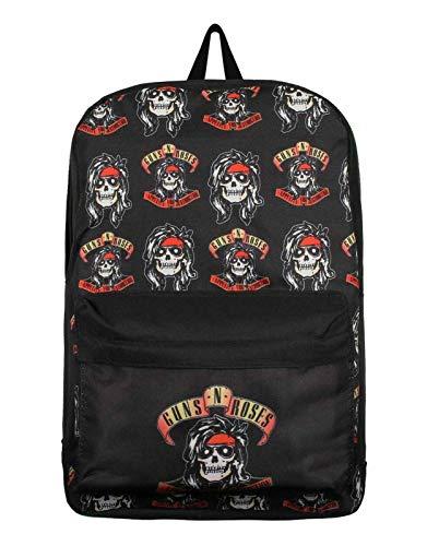 Guns N Roses Backpack Bag Appetite For Destruction Rocker Skull Logo Official One Size