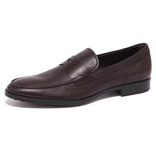 Tod's 4309Q Mocassino Uomo Gomma Brown Shoe Loafer Man [6.5]