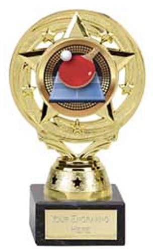 Emblems-Gifts Project X - Soporte para tenis de mesa, trofeo, plástico sobre una base de mármol, grabado gratis: 14 cm