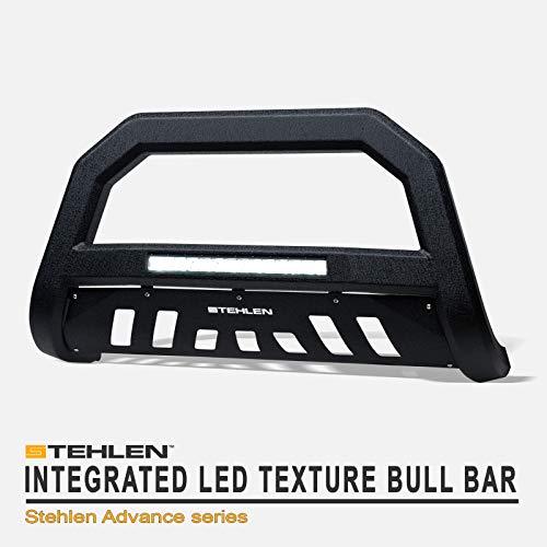Stehlen 642167817703 Advance Series Aluminum LED Bull Bar - Textured Black For 1999-2007 Chevy Silverado GMC Sierra / 2000-2006 Suburban Tahoe Yukon 1500