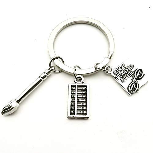 N/A LDGRH modesieraden kwast sleutelhanger, rekenmachine, sleutelhanger, abacus sleutelhanger, zilver mannen en vrouwen auto hangers handgemaakt