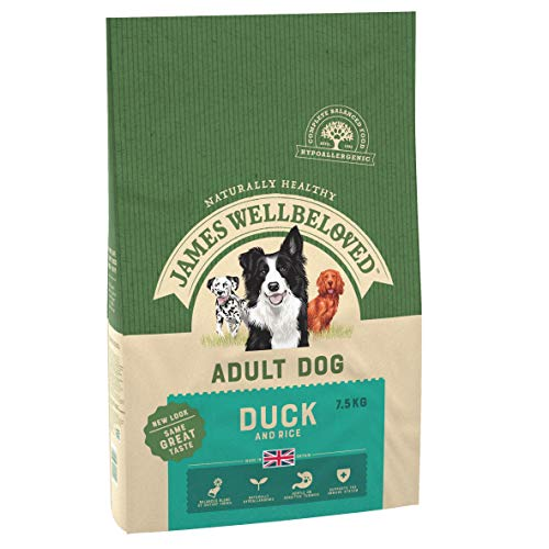 James Wellbeloved Complete Dry Adult Dog Food Duck and Rice, 15 kg