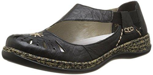 Rieker Women's 46315-00 Daisy 15 Black Leather 36 Medium