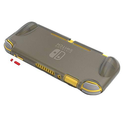 Leepesx rutschfeste Anti-Fingerabdruck-TPU-Oberfläche mit mattem Oberflächenschutz C-ase-Kontrastfarbtaste Kompatibel mit Switch Lite (GP202Weißblau + rote Taste)