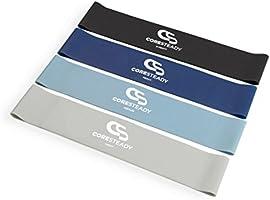 Coresteady Resistance Loop Bands - Set van 4 premium oefenbanden - Heupen Benen & Bilspier Activators -...