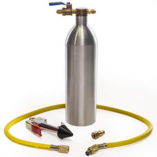 XtremepowerUS A/C AC Air Conditioner System Flush Canister Gun Kit Set R134 R12 R22 R410 R404