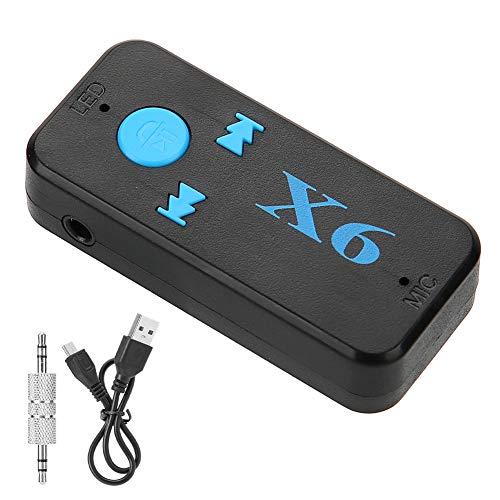 Weikeya Bluetooth Receptor, con Abdominales Mini USB Cable Cargadura X6 Coche Bluetooth Receptor por Casa Altavoz o Coche Sonido Sistema