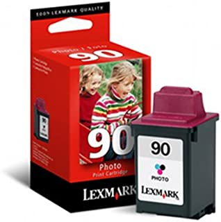 Lexmark 12A1990 90 OEM Ink Cartridge: Photo TriColor Yields 450 Pages