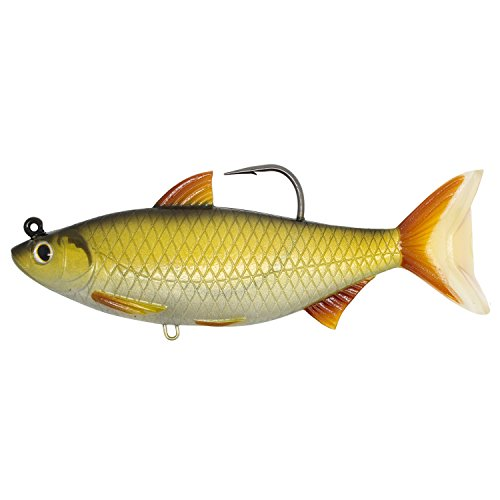 LiveTarget GSS140MS704 Golden Shiner Series Freshwater Swimbait, Gold/Black, One Size