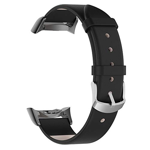TeaBoy Leather Bands Compatible with Samsung Gear Fit2/Fit 2 Pro Watch, Replacement Sport Slim Genuine Leather Accessories Bracelet Wristbands Strap Bands for Gear Fit2/Fit 2 Pro