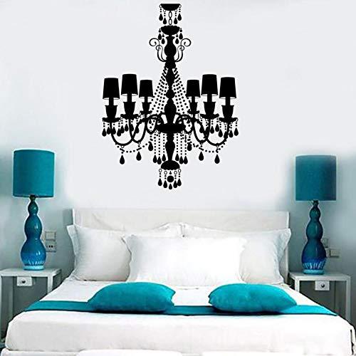 Tianpengyuanshuai Europese stijl kroonluchter wandsticker slaapkamer woonkamer decoratie huissticker zelfklevend