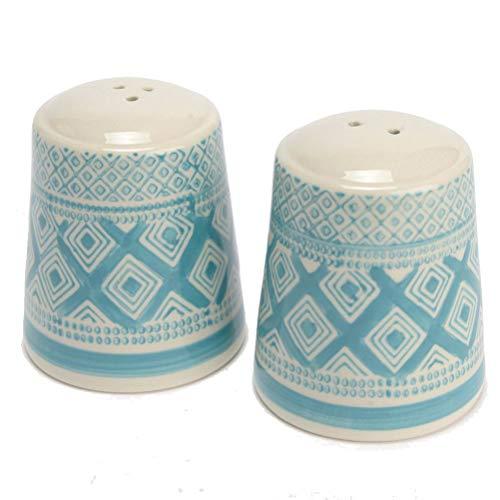French fabriquée à la main en céramique Poivre et Sel Shaker avec ensemble de Design moderne