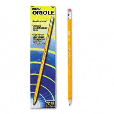 Oriole Woodcase Presharpened Pencil, 12/Pack [Set of 3]