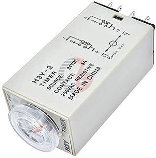 تيار متردد 110 فولت 220 فولت 5 أمبير H3Y-2 مرحل تأخير الوقت الحالة الصلبة مؤقت تتابع التحكم في مؤشر LED تيار مستمر متوافق ...