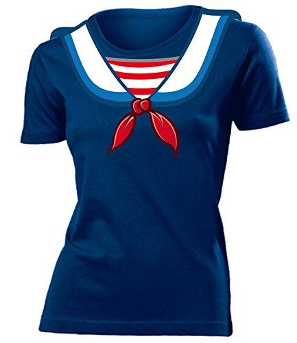 Matrosenkostüm Matrosen Karneval Kostüm 4545 Damen T-Shirt Karneval Fasching Faschingskostüm Karnevalskostüm Paarkostüm Gruppenkostüm Navy XXL