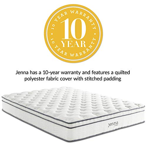 Modway AMZ-5771-WHI	Jenna 10 King Innerspring Mattress - Top Quality Quilted Pillow Top - Individually Encased Pocket Coils - 10-Year Warranty