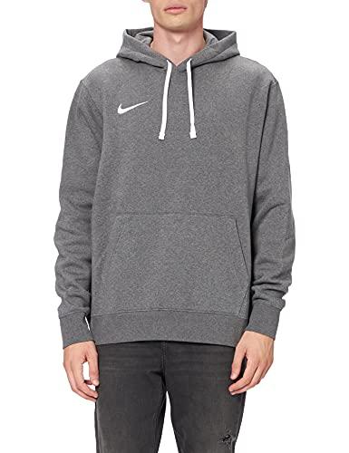 NIKE M NK FLC PARK20 PO Hoodie Sweatshirt, Charcoal Heathr/White/White, S Mens