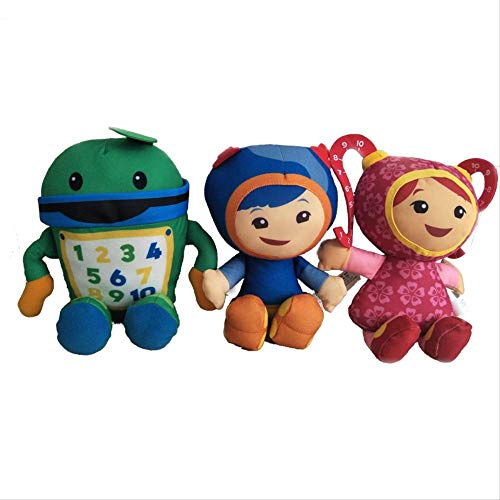 N\A 3pcs / Lot 20cm Team Umizoomi BOT Milli Geo Plush Toy Doll, Juguetes De Peluche para Niños, 20cm 3 Piezas