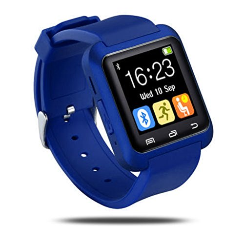 Hinmay U8 Bluetooth Smart Watch voor Android en iOS-smartphones, fitnesstracker/polshorloge met stappenteller/muziekspeler/oproepherinnering/camera voor telefoonopnames, voor mannen en vrouwen, slim gezondheidspolshorloge voor Apple iPhone 6/6S/6 Plus/6S Plus/5S/SE, Samsung Note3/Note4/Note5/S7/S6/S5/S4, Sony, Huawei