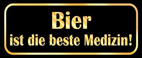 NWFS Bier is de beste geneeskunde blikken bord metalen bord bord metaal tin teken gewelfd gelakt 10 x 27 cm