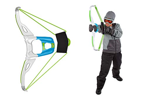 Wham-O Artic Force Mega Bow | Cold Resistant Snow Bow for Enduring Snowball Fights | Comfortable Wrist Brace for Accuracy & Control | Easy Pull Back & Aim | Target Included | Toy Bow for Snowballs