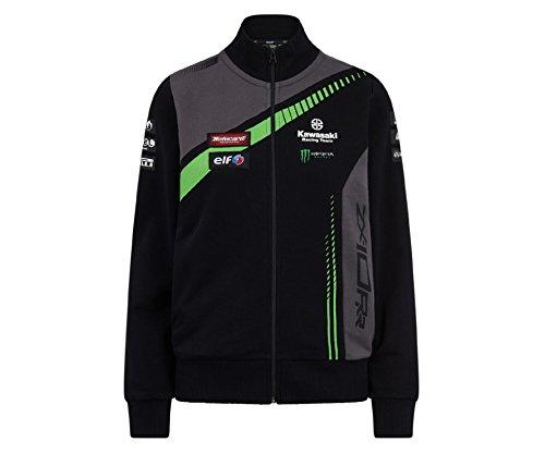 Kawasaki KRT SBK Replica Sweatshirt Jacke, Schwarz Grau, M