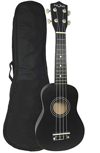 Ukelele soprano FZone UK02SB-BK con funda en color negro - rockmusic