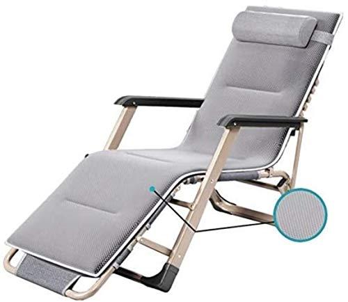 Chaise Pliante de Jardin Longue Longue Patio Sun avec Coussins d'extérieur Plage Prise en Charge Gary de jusqu'à