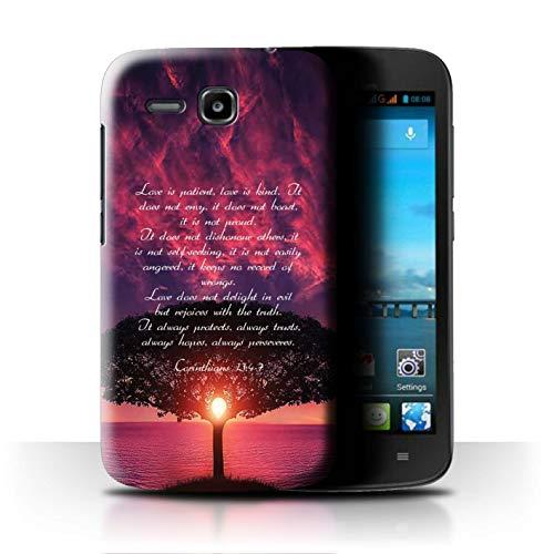 Hülle Für Huawei Ascend Y600 Christliche Bibel Vers Love is Patient/Corinthians Design Transparent Ultra Dünn Klar Hart Schutz Handyhülle Case