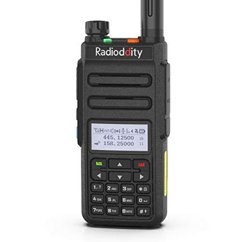 Radioddity GD-77 DMR digitales Funkgerät Doppelband Doppel Zeitslot Digitales/Analoges Amateurfunk, Reichweite bis zu 10km, 1024 Kanäle kompatibel mit MOTOTRBO, Gratis Programmierkabel