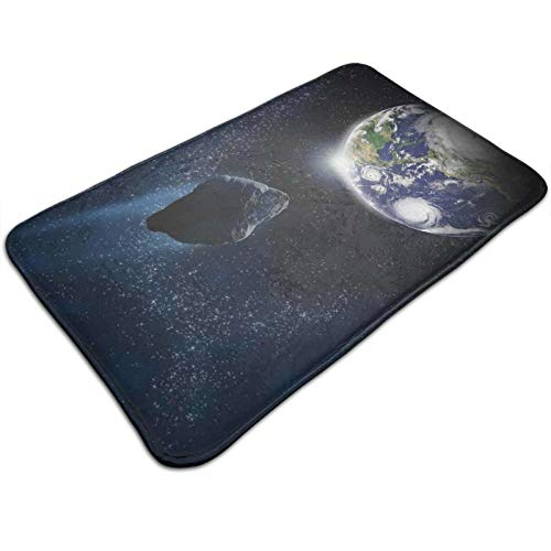 Attack of The Asteroid Rocky Dark Body Comet On Planet Earth Meteor Shower 19.5*31.5 inch, ExtrSoft and Absorbent Rugs, Machine Wash Dry, Perfect Plush Carpet Mats for Tub, Shower,and Bath Room
