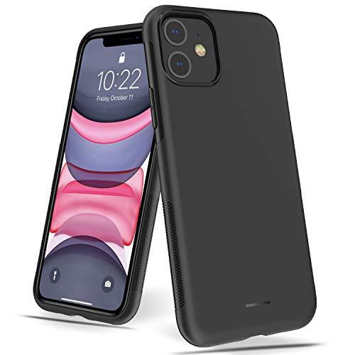 UNBREAKcable iPhone 11 Hülle – Weiche, mattierte TPU Ultra-dünne Stylische iPhone 11 Handyhülle für 6,1 Zoll iPhone 11 [Fallschutz, rutschfest] – Matt Schwarz