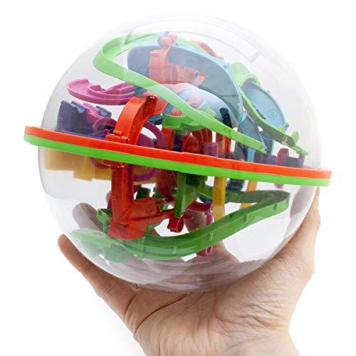 GOODS+GADGETS 3D Kugellabyrinth Kugelspiel Magic Maze Kugel-Labyrinth Puzzle Ball Geschicklichkeitsspiel 20cm XXL
