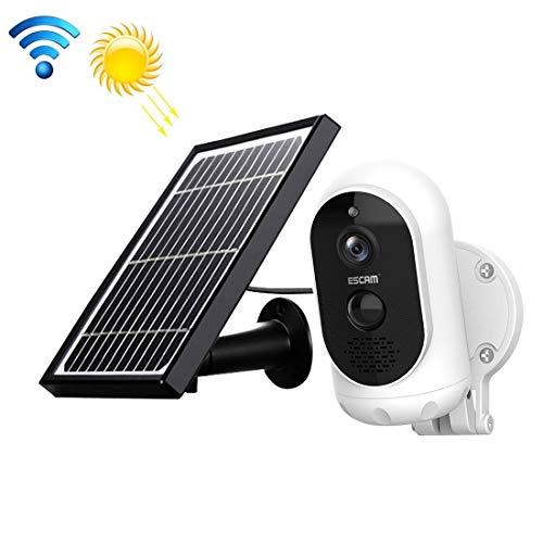 Telecamera a Pannello Solare IP66 1080P CCR G12 1080P HD Esterno IP65 Impermeabile Batteria Ricaricabile del Pannello Solare PIR WiFi Alarm Camera, Visione Notturna di Sostegno/TF/Audio bidirezion