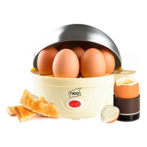 Neo ® Langlebig Edelstahl Creme Elektrisch Ei Herd Boiler Pochierer & Dampf Passt 7 Eier