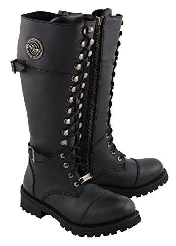Milwaukee Leather MBL9390 Damen Reitstiefel, Schwarz, 40,6 cm