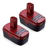 2Packs 5.0Ah Lithium Battery for Craftsman C3 19.2 Volt Battery DieHard 315.115410 315.11485 130279005 1323903 120235021 11375 11376 315.PP2011 Cordless Battery