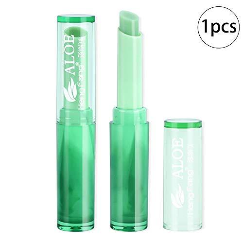 1PC Lápiz labial orgánico Lápiz labial de gelatina de aloe vera Bálsamo labial de larga duración Cambio de color mágico Bálsamo labial nutritivo Ingredientes seguros Maquillaje para labios